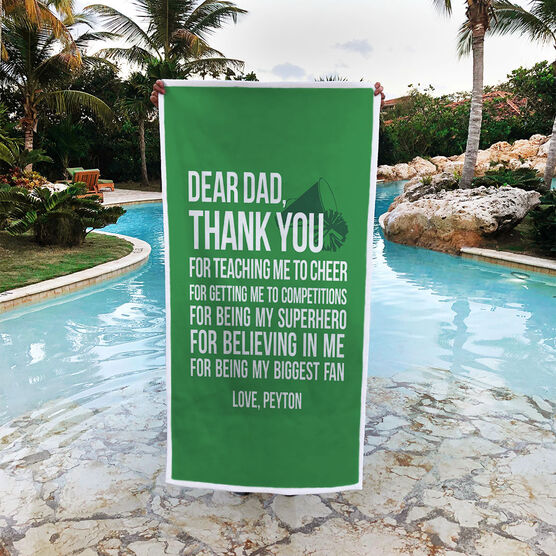 Cheerleading Premium Beach Towel - Dear Dad