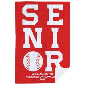 Baseball Premium Blanket - Personalized Senior