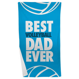 Volleyball Beach Towel Best Dad Ever