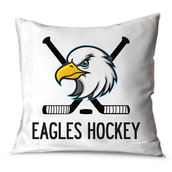 Hockey Throw Pillow Custom Hockey Logo With Team Name
