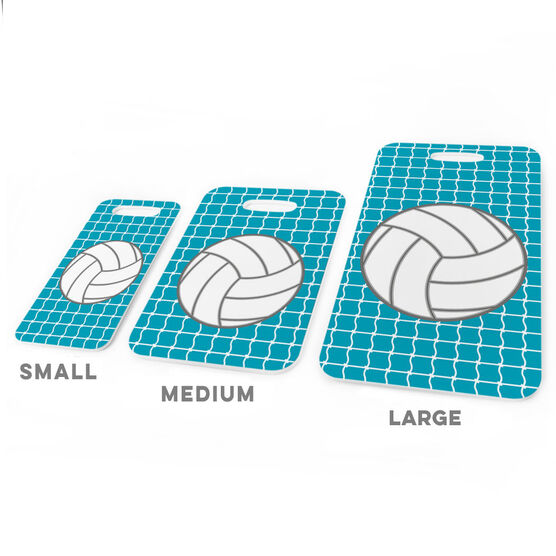 Volleyball Bag/Luggage Tag - Volleyball with Net Pattern