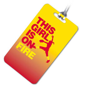 Softball Bag/Luggage Tag This Girl Is On Fire Pitcher