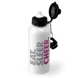 Cheerleading 20 oz. Stainless Steel Water Bottle - Eat. Sleep. Cheer.