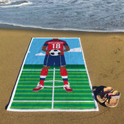 Soccer Premium Beach Towel - Male Player