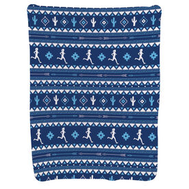 Running Baby Blanket - Running Girl Tribal Pattern