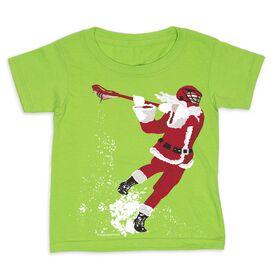 Guys Lacrosse Toddler Short Sleeve Tee - Santa Laxer