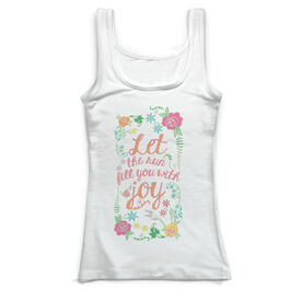 Running Vintage Fitted Tank Top - Let The Run Fill You With Joy