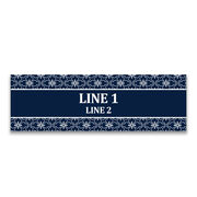 """Personalized 12.5"""" X 4"""" Removable Wall Tile - Wedding Date"""