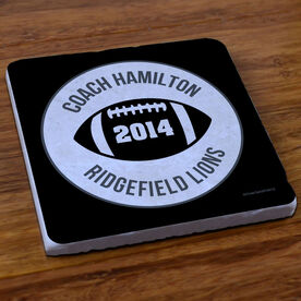 Football Stone Coaster Personalized Thanks Coach Football