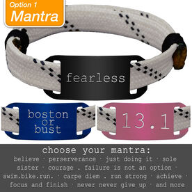 RaceLACE Mantra Bracelet - WHITE