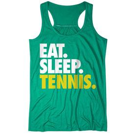 Tennis Flowy Racerback Tank Top - Eat Sleep Tennis (Bold)