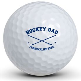 Crossed Sticks Hockey Dad Golf Balls