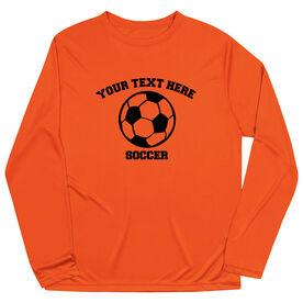 Soccer Long Sleeve Performance Tee - Custom Soccer