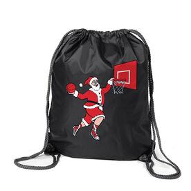 Basketball Sport Pack Cinch Sack - Slam Dunk Santa