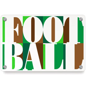 Football Metal Wall Art Panel - Football Mosaic