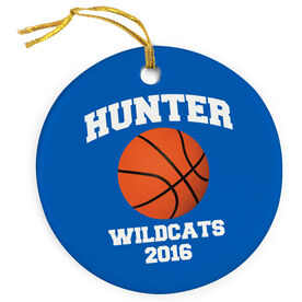 Basketball Porcelain Ornament Personalized Basketball Name and Number