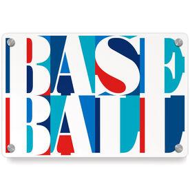 Baseball Metal Wall Art Panel - Baseball Mosaic