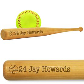 Softball Mini Engraved Bat Player Number and Name
