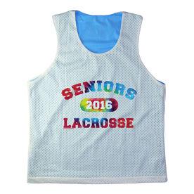 Girls Racerback Pinnie Seniors Lacrosse Rainbow