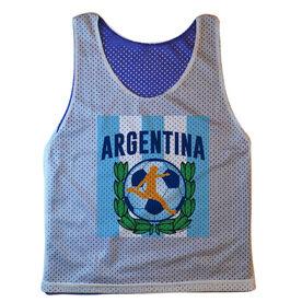Guys Soccer Pinnie Argentina Soccer (Royal Pinnie)