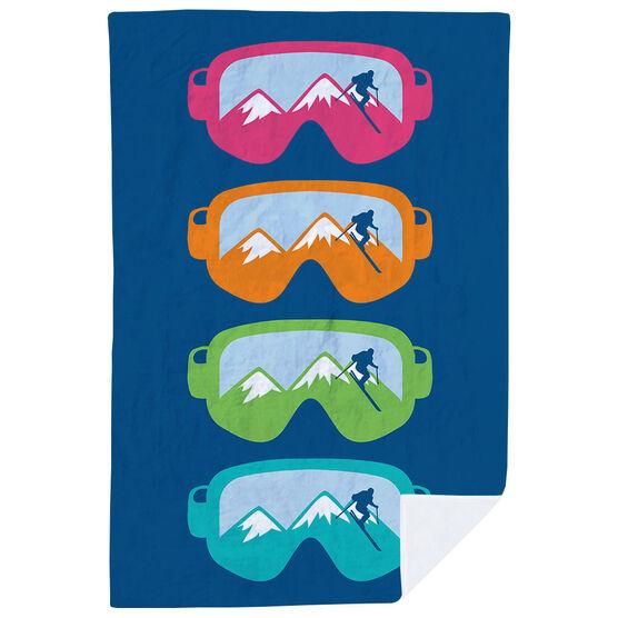 Skiing & Snowboarding Premium Blanket - Multicolored Snow Goggles