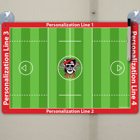 "Lacrosse Custom Dry Erase Coach Board Guys Full Field - 18"" X 12"""