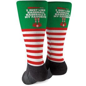 Baseball Printed Mid-Calf Socks - Baseball's My Favorite
