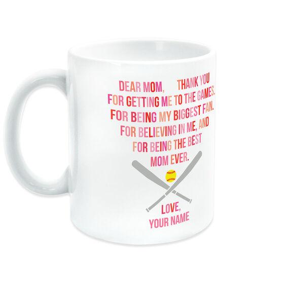 Softball Coffee Mug - Dear Mom Heart