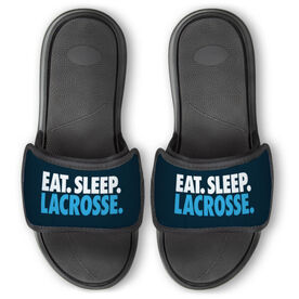Guys Lacrosse Repwell® Slide Sandals - Eat. Sleep. Lacrosse.