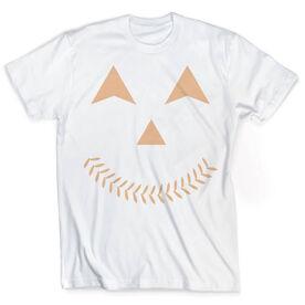Vintage Softball T-Shirt - Jack-O-Lantern
