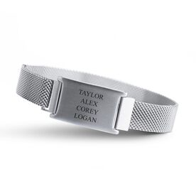 Personalized Adjustable Stainless Steel Magnetic Bracelet - Children's Names