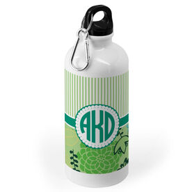 Personalized 20 oz. Stainless Steel Water Bottle - Striped Monogram
