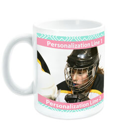 Hockey Coffee Mug Custom Photo With Pattern