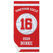 Volleyball Premium Beach Towel - Personalized Team