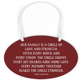 Oval Sign - Our Family