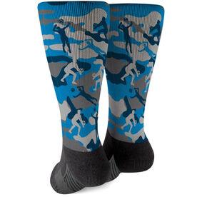 Volleyball Printed Mid-Calf Socks - Camo
