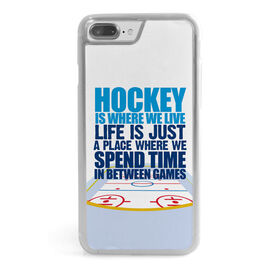 Hockey iPhone® Case - Hockey Is Where We Live (Stacked)