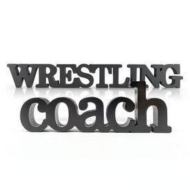 Wrestling Coach Wood Words