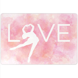 "Figure Skating 18"" X 12"" Aluminum Room Sign - Love"