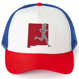 Running Trucker Hat - New Mexico Female Runner