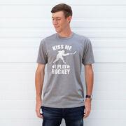 Hockey Tshirt Short Sleeve Kiss Me I Play Hockey