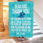 Swimming Premium Blanket - Dear Dad
