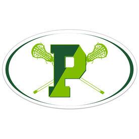 Car Magnet - Pentucket Youth Girls Lacrosse Logo (WHITE)