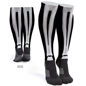 Printed Knee-High Socks - Skeleton