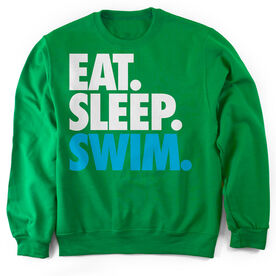 Swimming Crew Neck Sweatshirt Eat. Sleep. Swim.