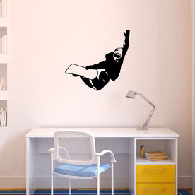 Snowboarding Removable ChalkTalkGraphix Wall Decal - Snowboarder