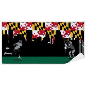 Guys Lacrosse Premium Beach Towel - Go for the Goal Maryland