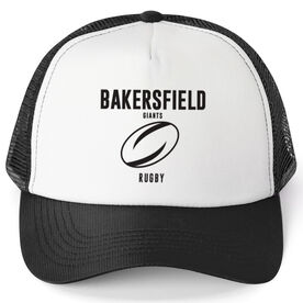 Rugby Trucker Hat - Team Name With Text