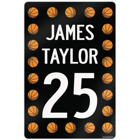 """Basketball Aluminum Room Sign Personalized Basketball Speed Sign (18"""" X 12"""")"""