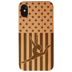 Gymnastics Engraved Wood IPhone® Case - USA Gymnastics Girl